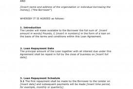 003 Unforgettable Family Loan Agreement Template Uk Free Idea