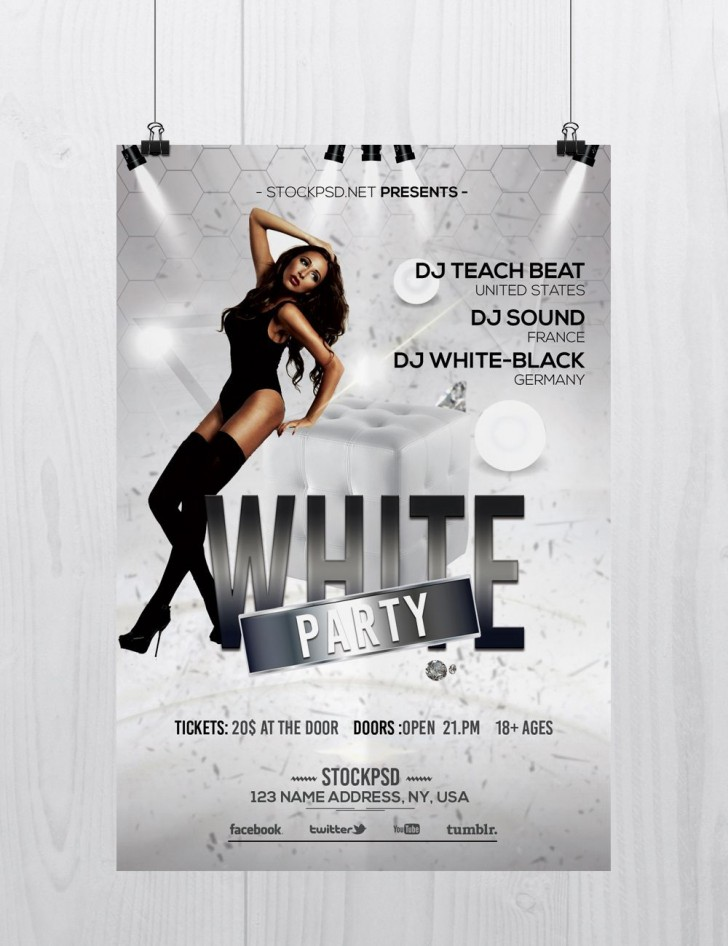 003 Unforgettable Free Party Flyer Template For Photoshop Photo  Pool Psd Download728