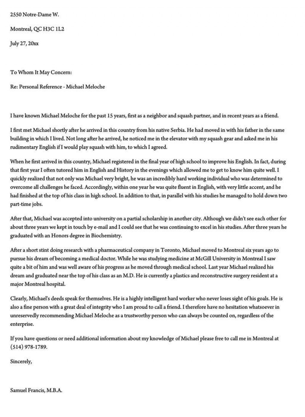 003 Unforgettable Free Reference Letter Template For Employment Example  WordLarge