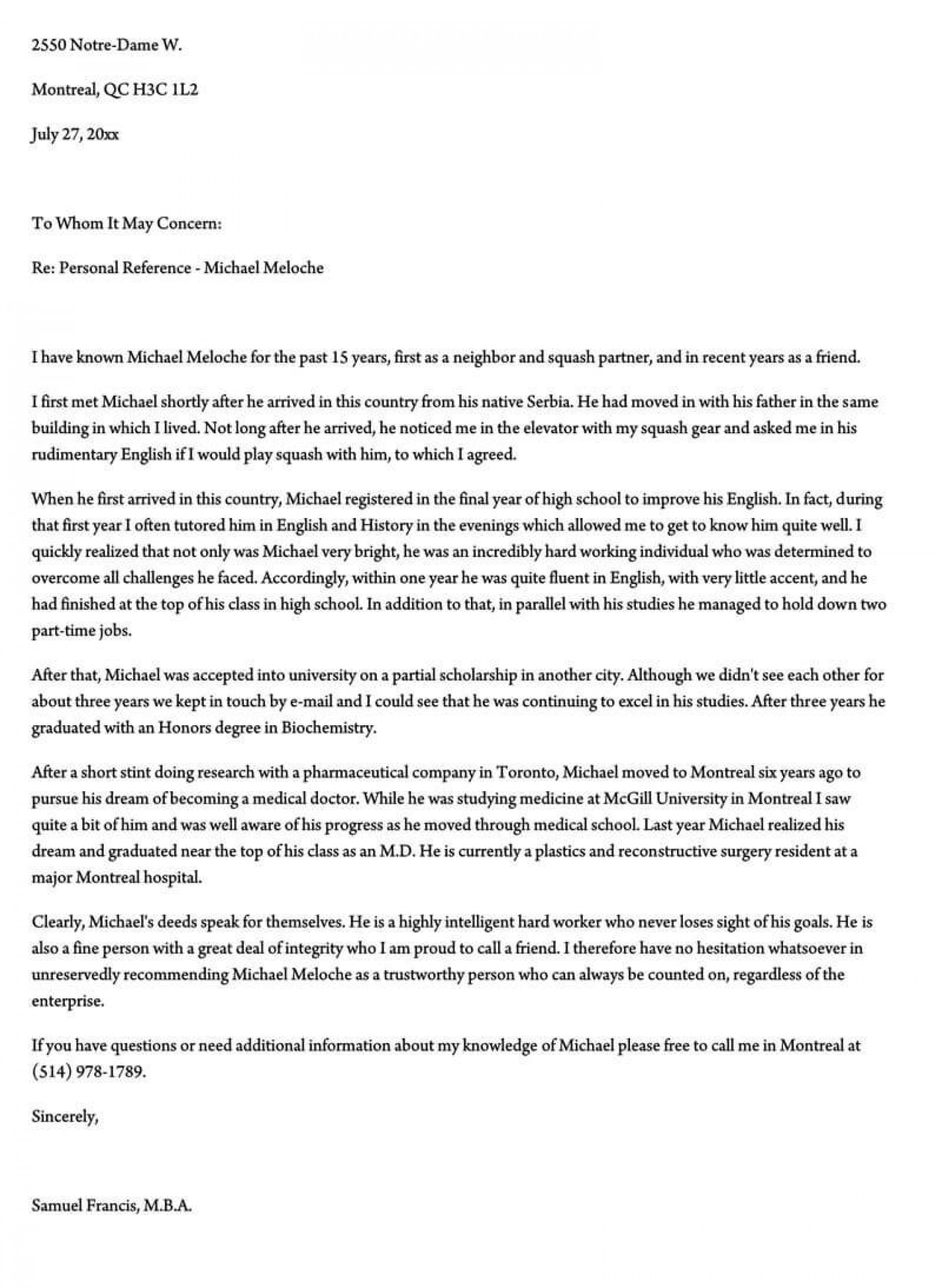 003 Unforgettable Free Reference Letter Template For Employment Example  Word1920
