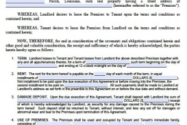 003 Unforgettable Housing Rental Agreement Template Free Photo
