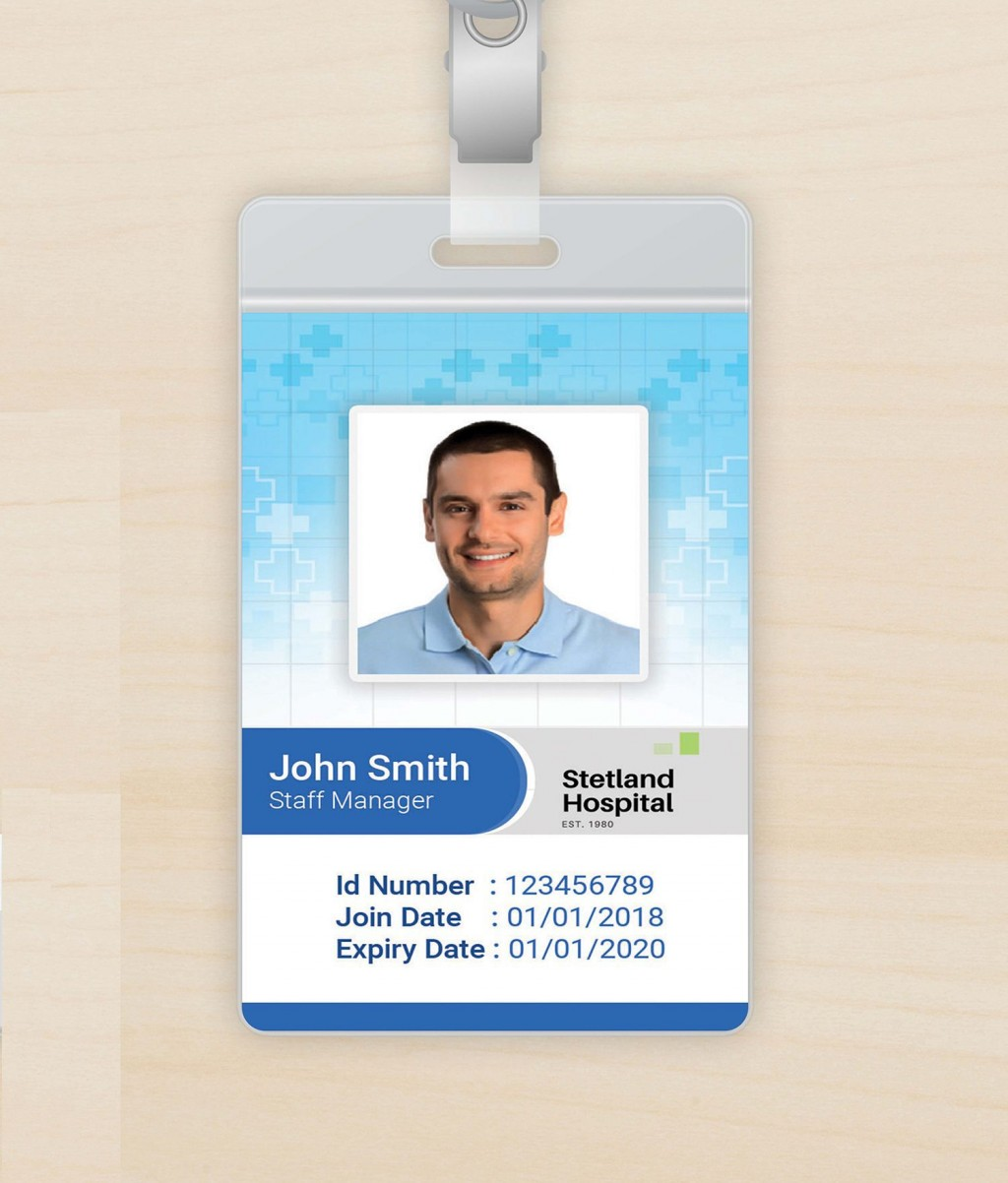 003 Unforgettable Id Badge Template Free Online Idea Large