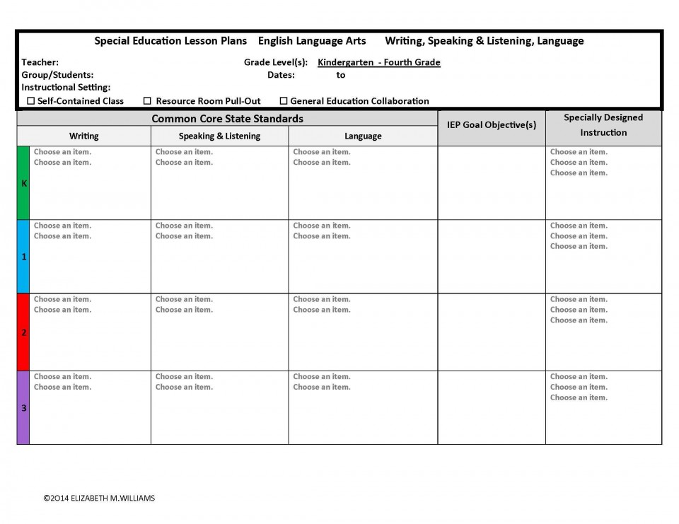 003 Unforgettable Lesson Plan Template For Kindergarten Common Core Highest Clarity 960