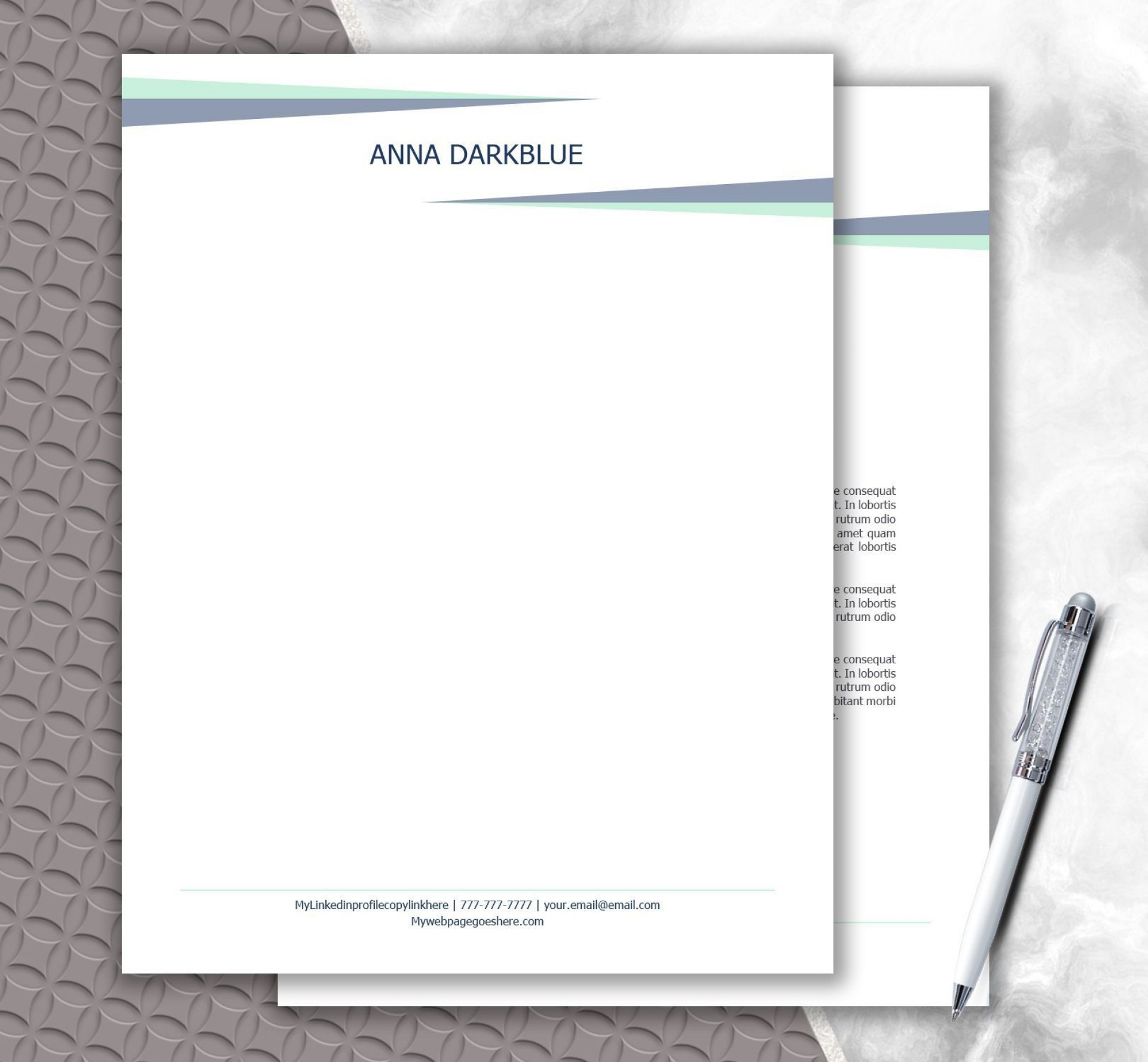 003 Unforgettable Letterhead Format In Word 2007 Free Download Photo  Company Template1920