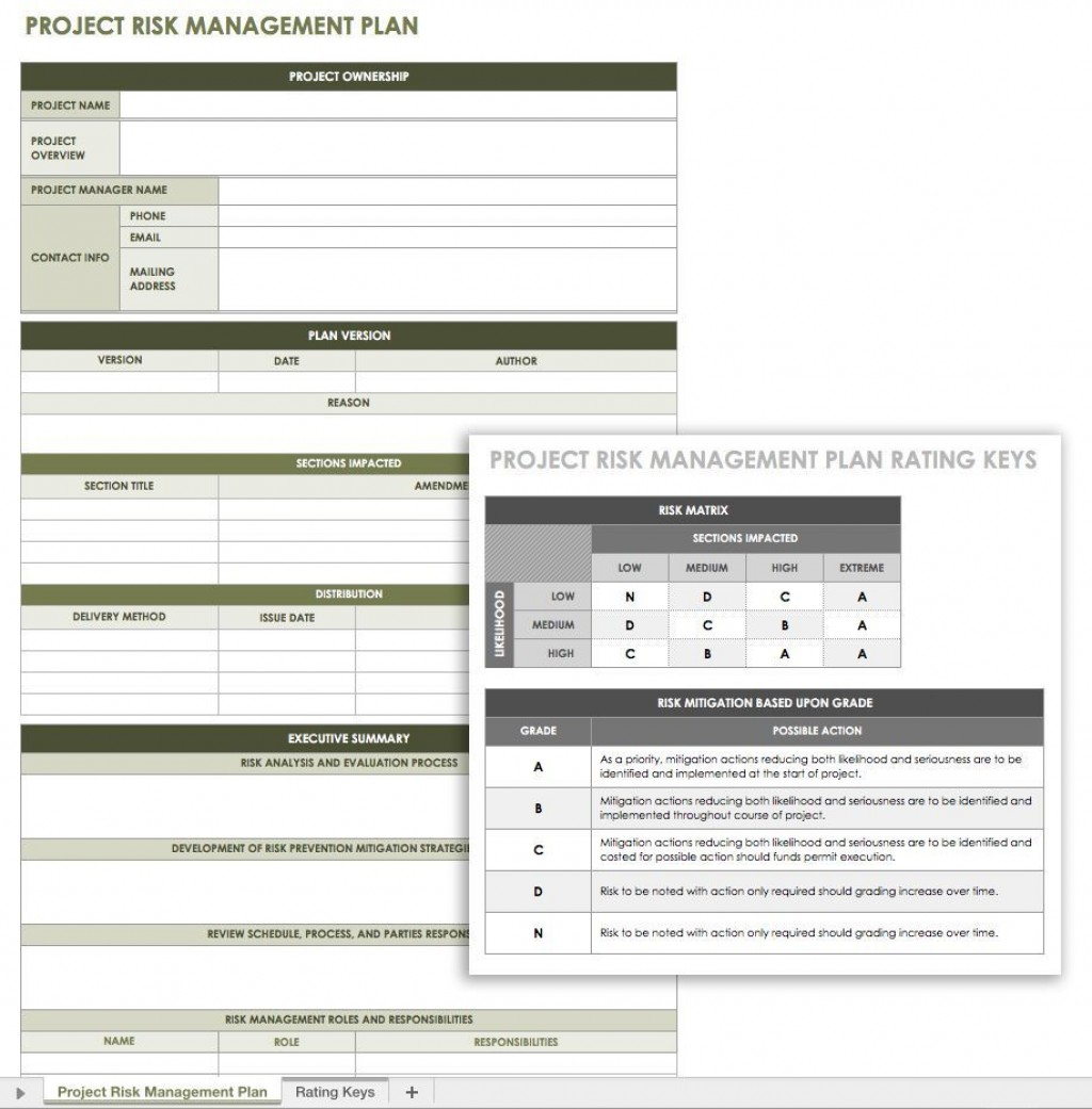 003 Unforgettable Project Risk Management Plan Template Word High Def Large