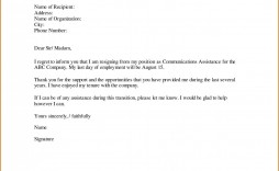 003 Unforgettable Resignation Letter Sample Free Doc Picture  .doc