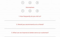003 Unforgettable Restaurant Customer Comment Card Template Sample  For Word Free