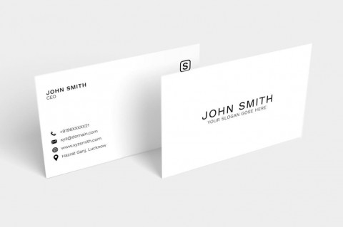 003 Unforgettable Simple Busines Card Template Psd High Def  Design In Photoshop Minimalist Free480