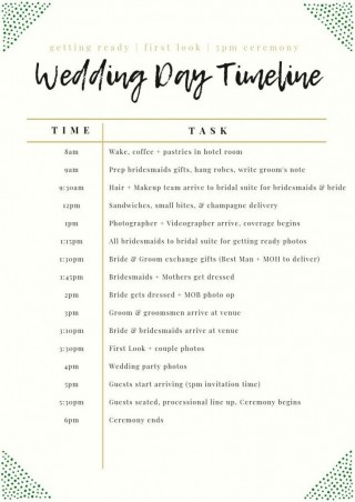 003 Unforgettable Wedding Day Schedule Template High Definition  Excel Editable Timeline Free Word320