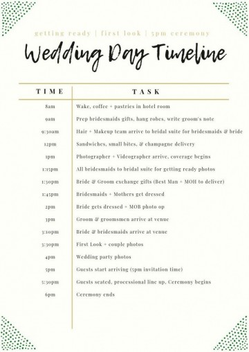 003 Unforgettable Wedding Day Schedule Template High Definition  Excel Editable Timeline Free Word360