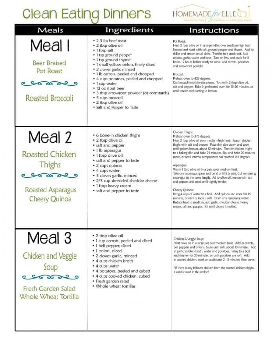 003 Unforgettable Weekly Meal Plan Example Image  Examples Keto Template One Week