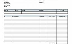 003 Unique Auto Repair Invoice Template Free Image  Excel Printable Pdf