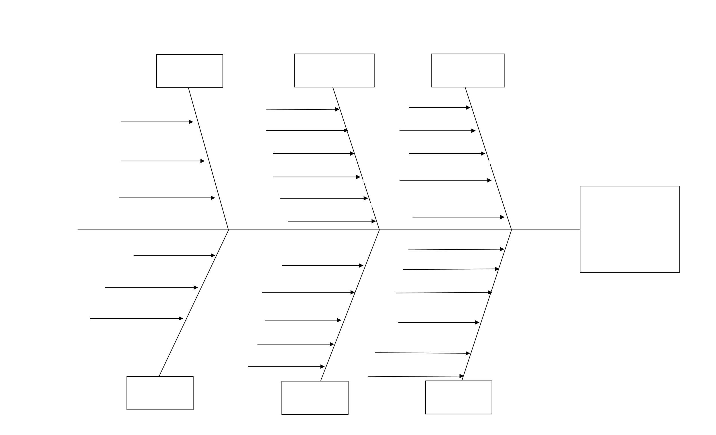 003 Unique Blank Fishbone Diagram Template Highest Quality  Downloadable Word PdfFull