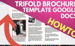 003 Unique Brochure Template Google Doc Photo  Blank Tri Fold Slide