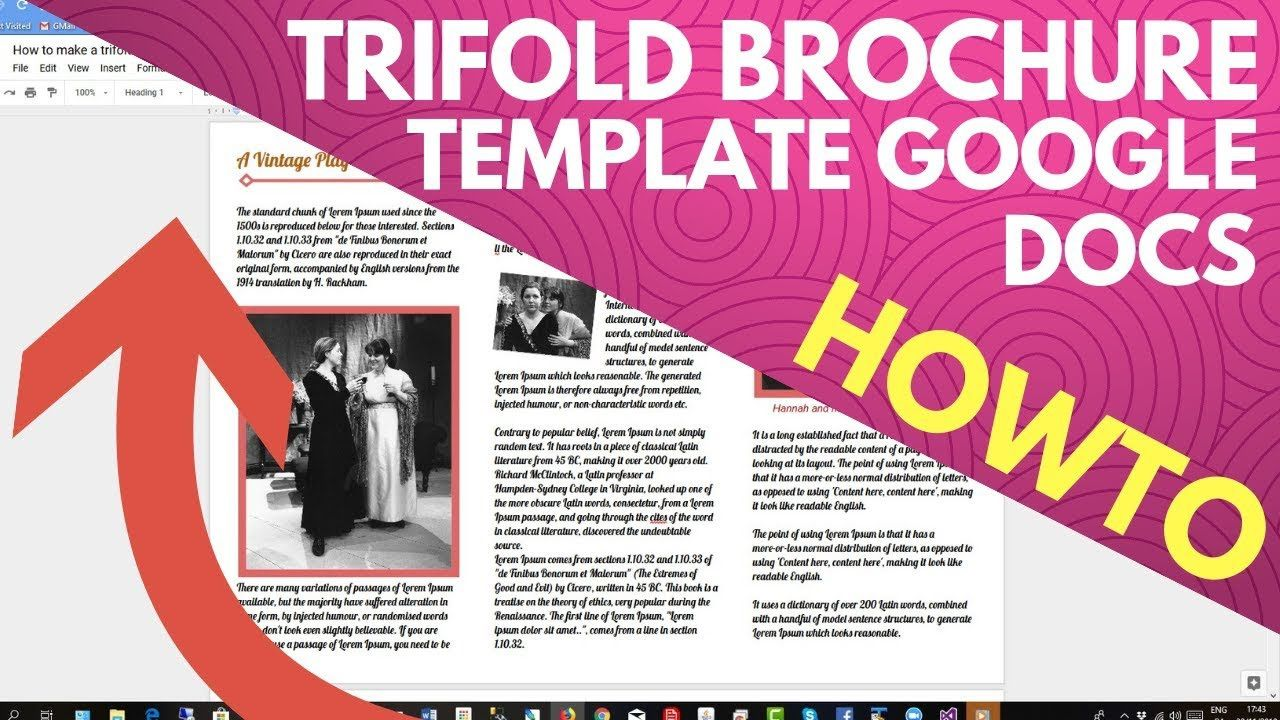 003 Unique Brochure Template Google Doc Photo  Blank Tri Fold SlideFull