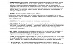 003 Unique Commission Sale Agreement Template Free High Definition  Word International