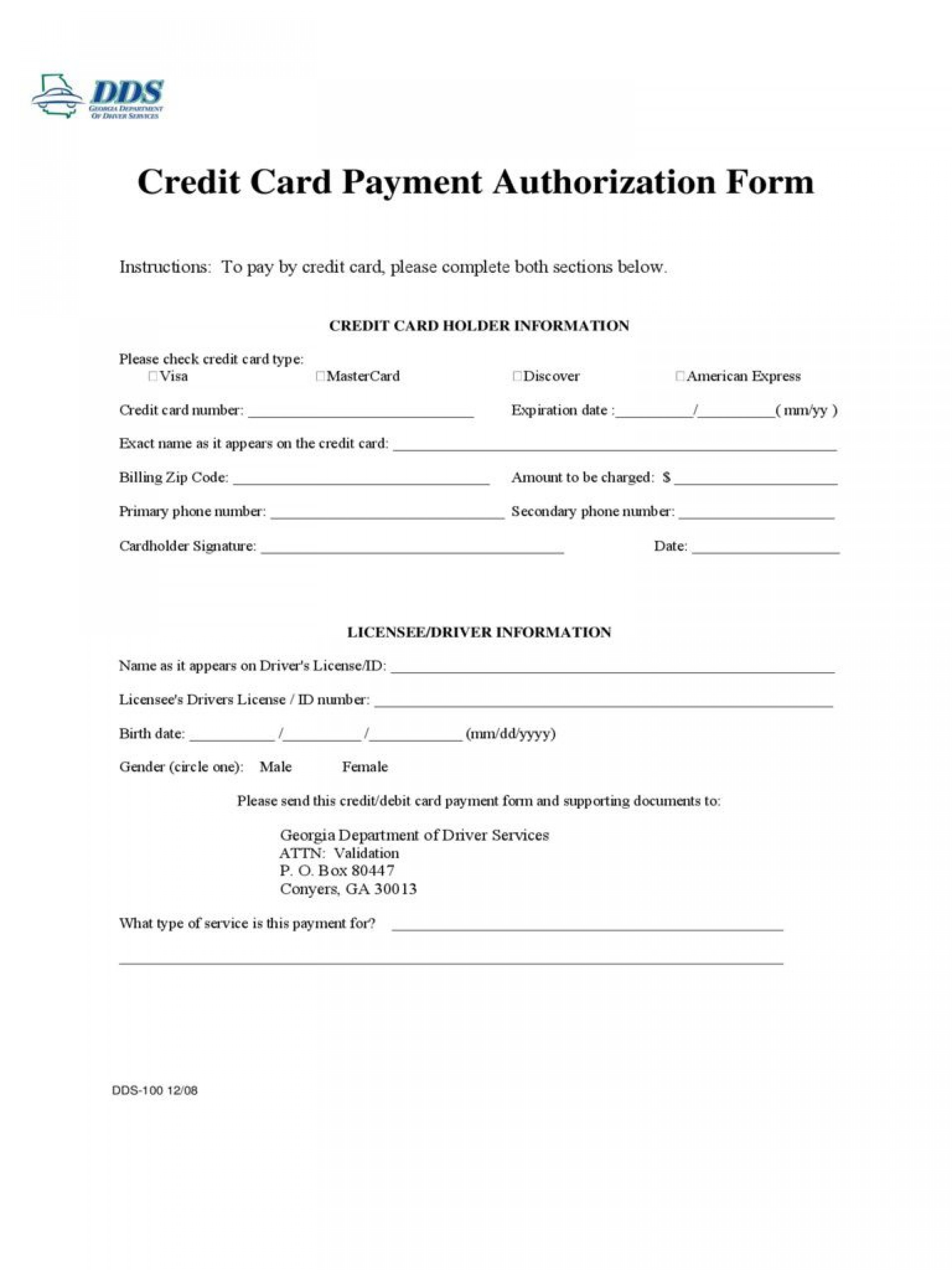 003 Unique Credit Card Template Word Inspiration  Authorization Hotel Form Slip1920