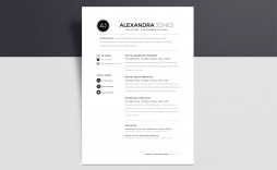 003 Unique Cv Template Free Word 2018 High Def  Download Modern