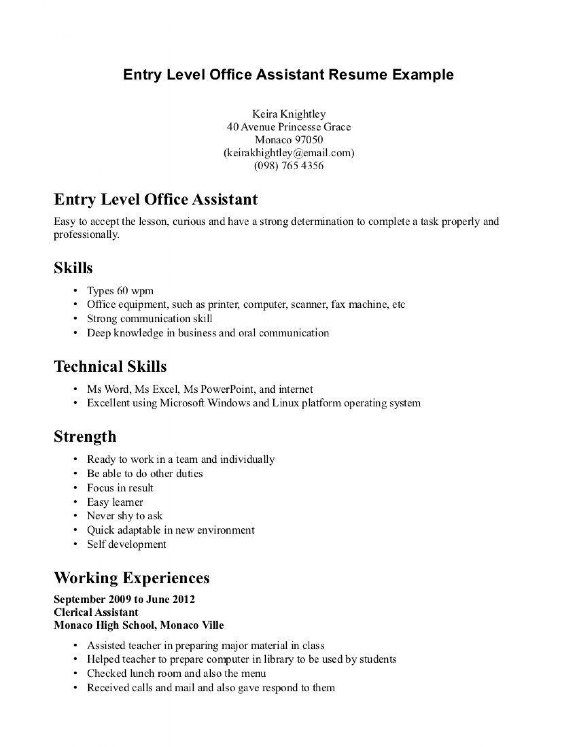 003 Unique Entry Level Resume Template Word Inspiration  Free For1920