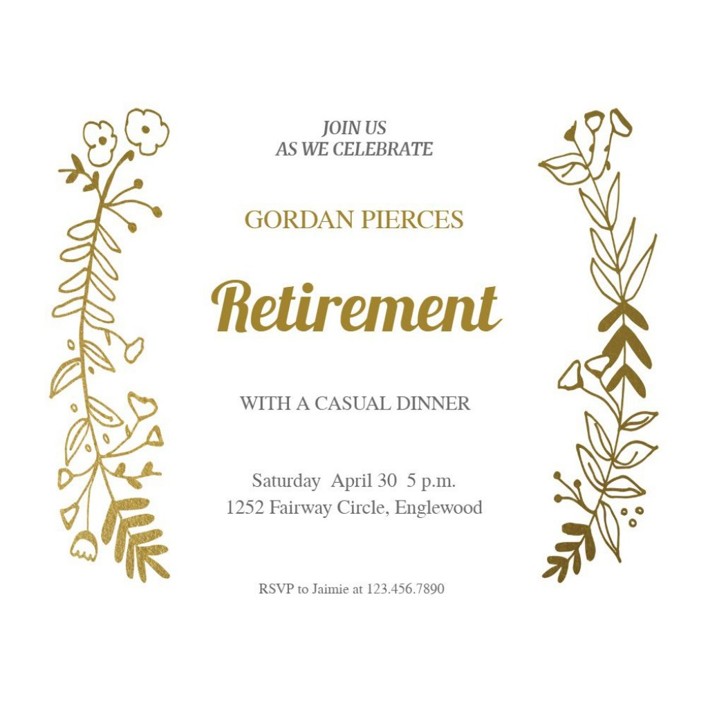 003 Unique Free Retirement Invitation Template Picture  Templates Microsoft Word Party FlyerLarge