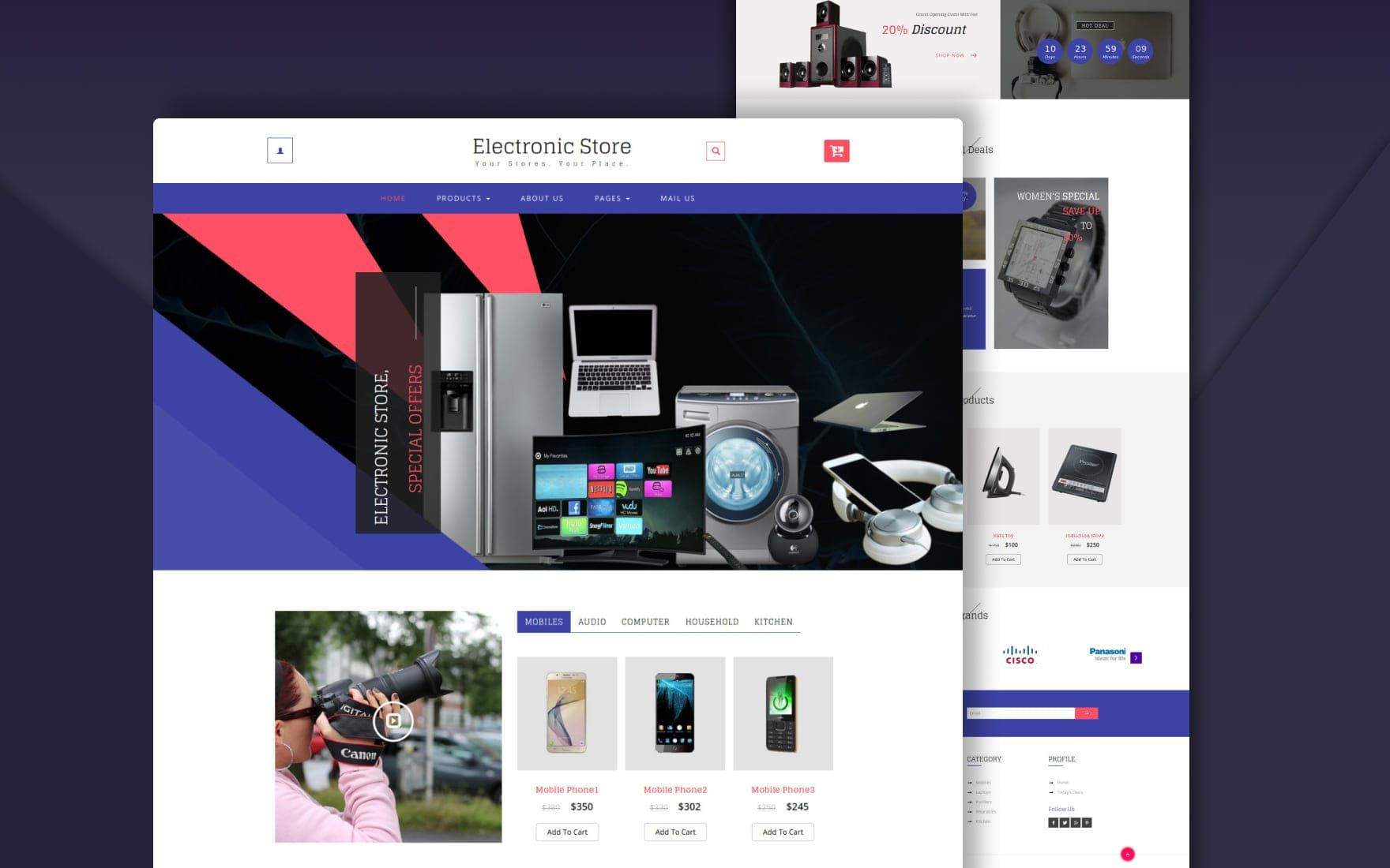 003 Unique Free Website Template Download Html And Cs Jquery For Ecommerce Example Full