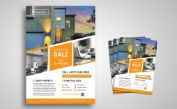 003 Unique House For Sale Flyer Template Highest Quality  Free Ad