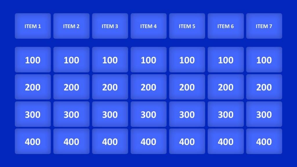 003 Unique Jeopardy Template Google Slide Idea  Slides Board Blank BestLarge