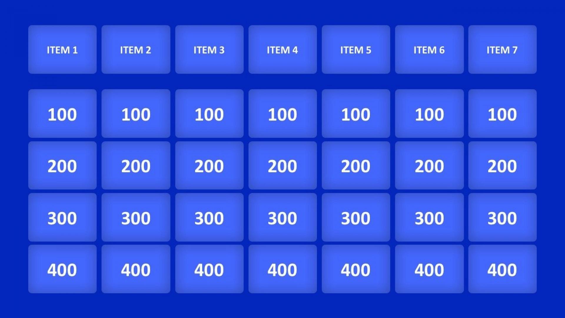 003 Unique Jeopardy Template Google Slide Idea  Slides Board Blank Best1920