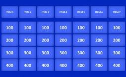 003 Unique Jeopardy Template Google Slide Idea  Slides Board Blank Best