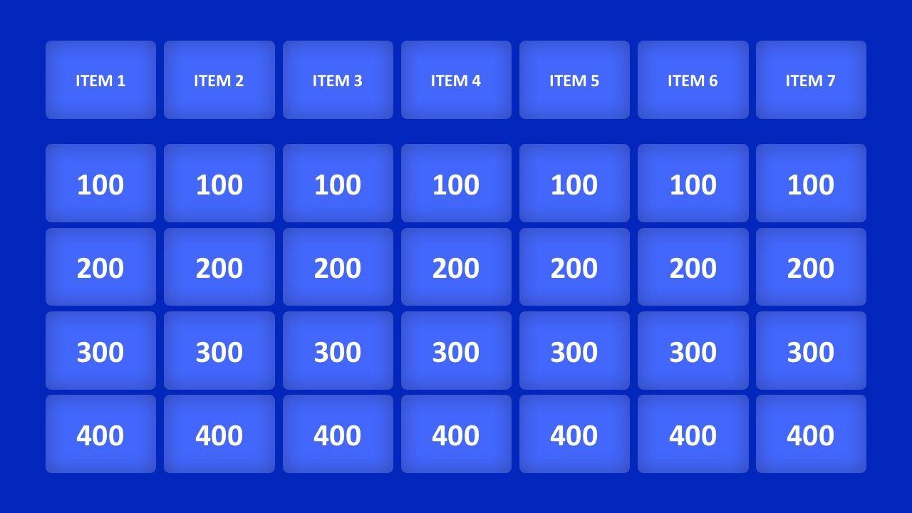 003 Unique Jeopardy Template Google Slide Idea  Slides Board Blank BestFull