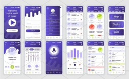 003 Unique Mobile App Design Template Inspiration  Templates Ui Free Online Android Psd