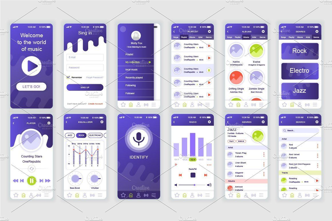 003 Unique Mobile App Design Template Inspiration  Templates Ui Free Online Android PsdFull