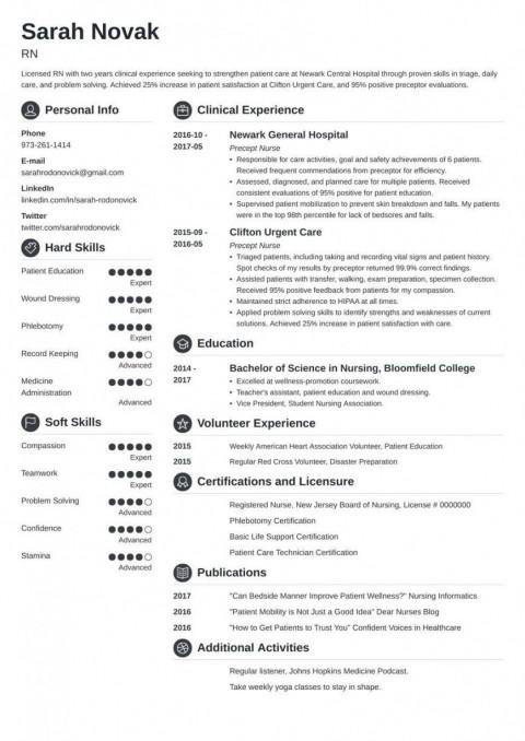003 Unique New Rn Resume Template Sample 480
