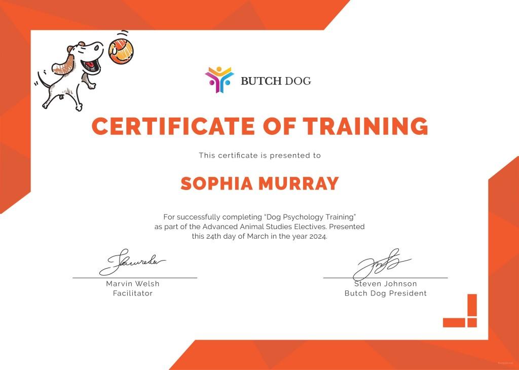 003 Unique Service Dog Certificate Template Idea  Printable Id FreeLarge