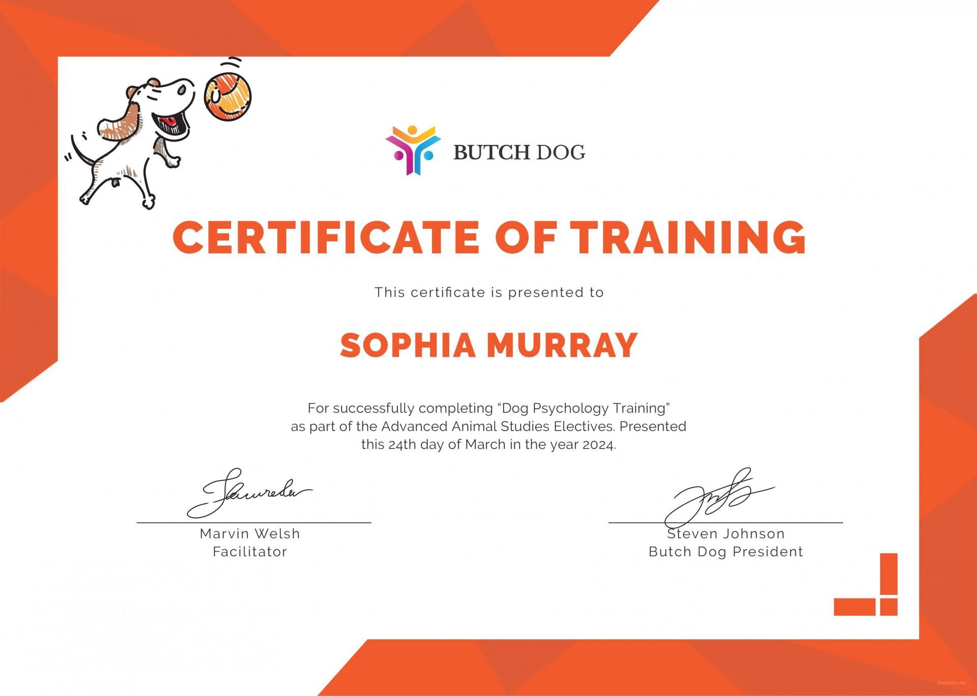 003 Unique Service Dog Certificate Template Idea  Printable Id Free1920