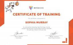 003 Unique Service Dog Certificate Template Idea  Printable Id Free