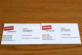 003 Unique Staple Busines Card Template Word Design
