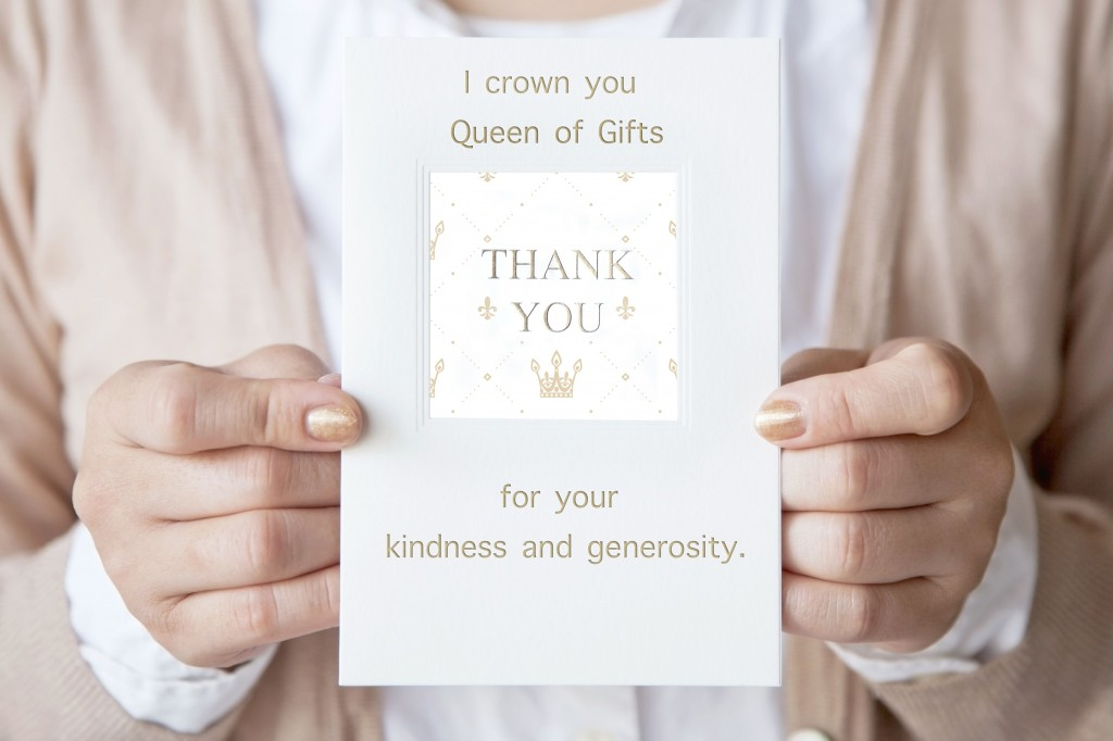003 Unique Thank You Card Wording Baby Shower Example  Note For Money Someone Who Didn't Attend HostesLarge