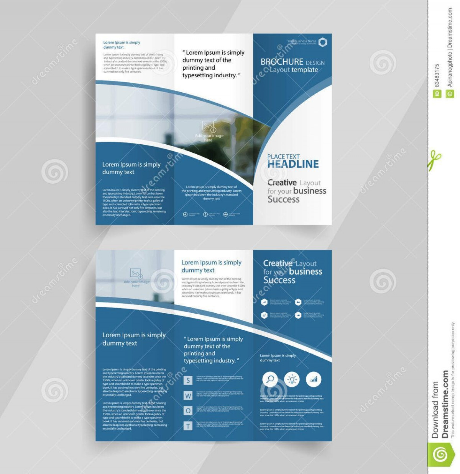 003 Unique Three Fold Brochure Template Word Free Photo  3 Download1920