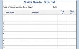 003 Unique Visitor Sign In Sheet Template Printable Picture  Free Word