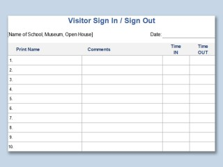 003 Unique Visitor Sign In Sheet Template Printable Picture  Free Word320