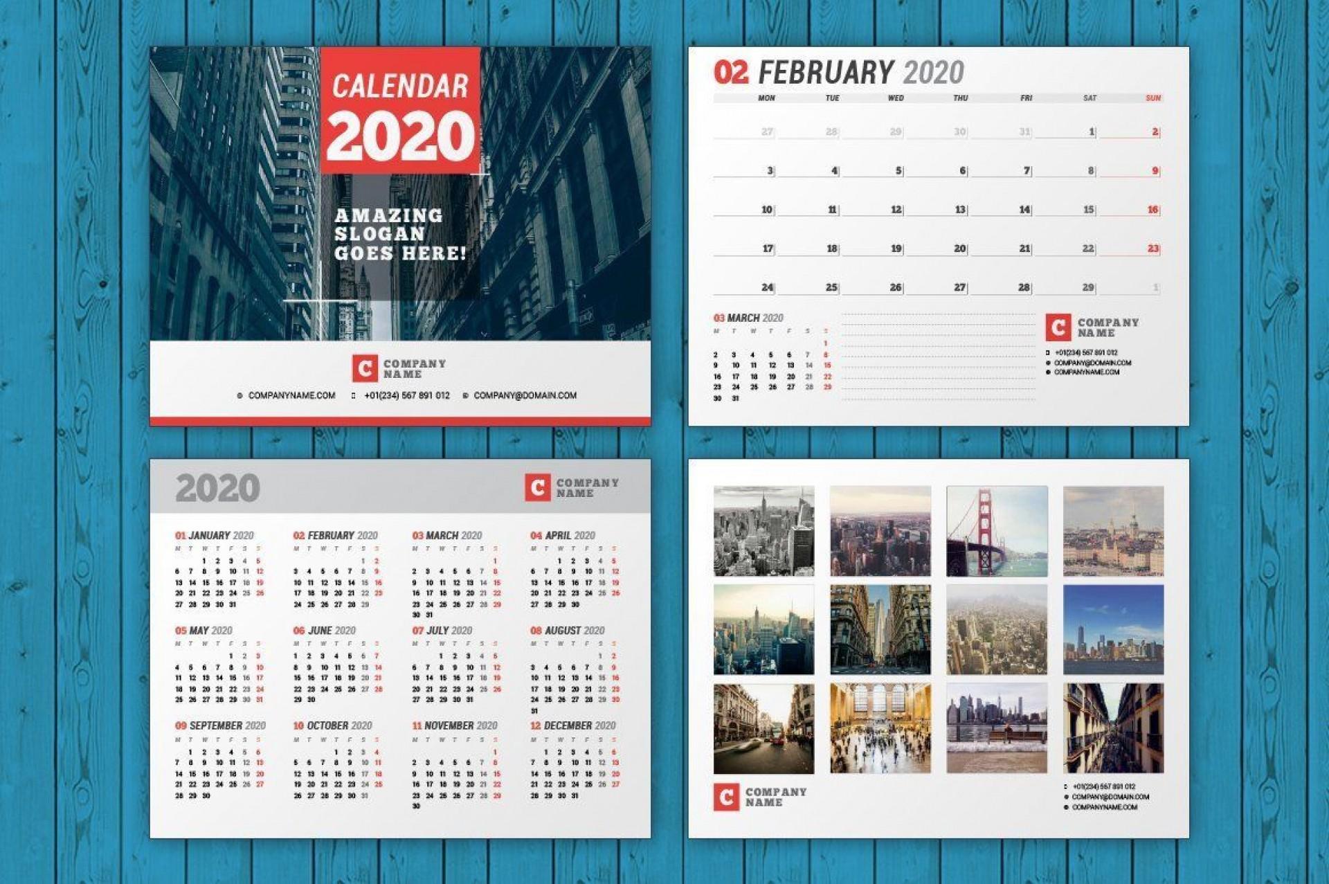 003 Unusual 2020 Calendar Template Indesign Inspiration  Adobe Free1920