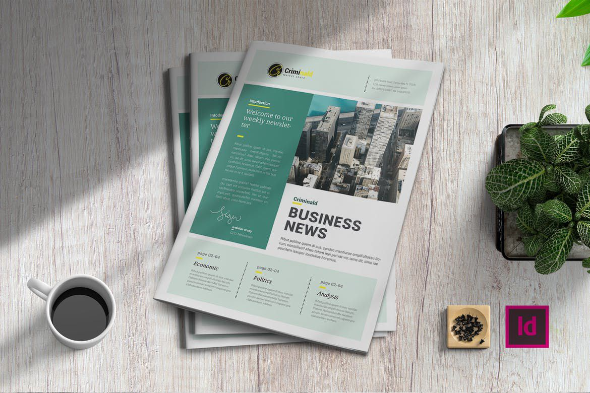 003 Unusual Adobe Indesign Newsletter Template Free Download High Resolution Full