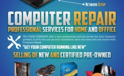 003 Unusual Computer Repair Flyer Template Highest Quality  Word Busines Free