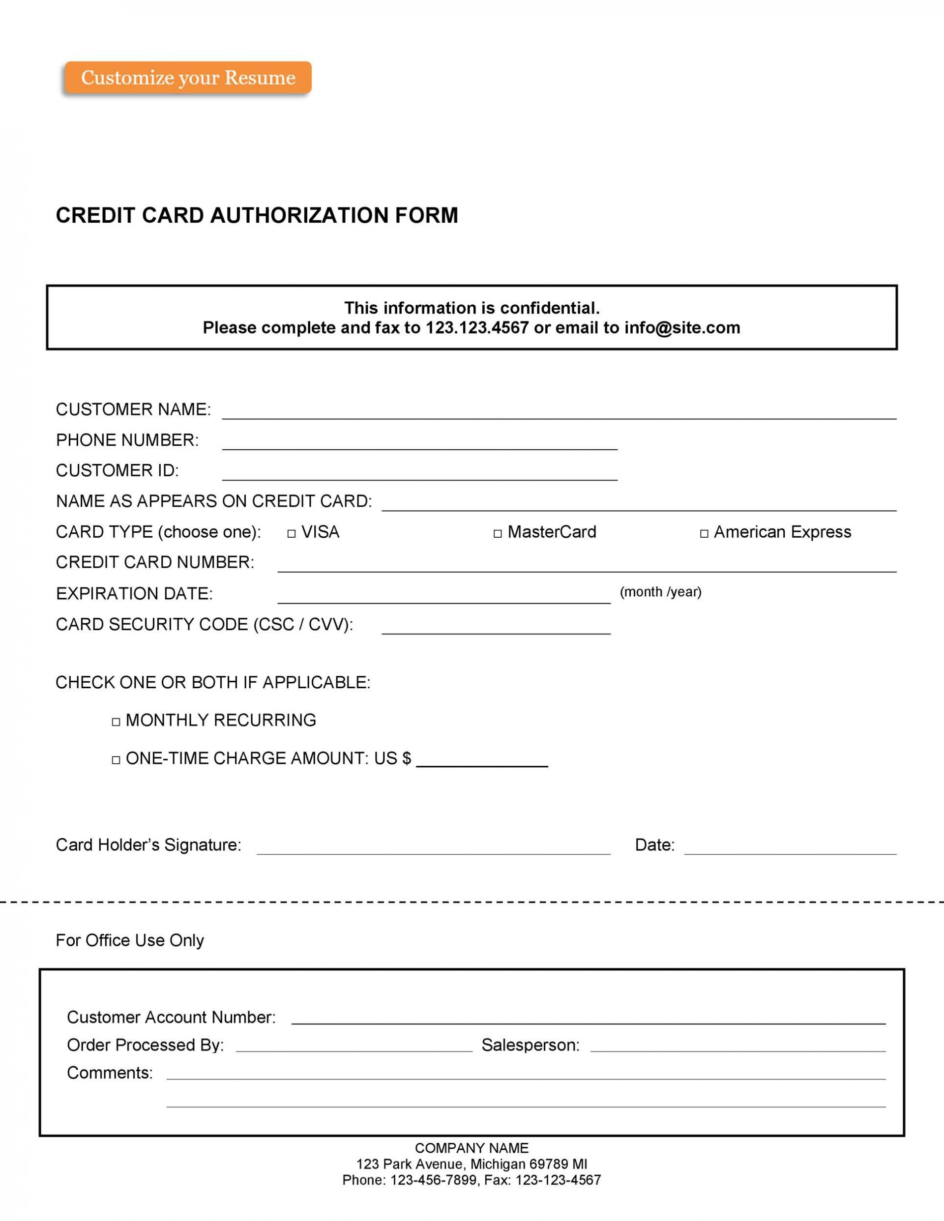 003 Unusual Credit Card Usage Request Form Template Example 1920