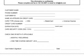 003 Unusual Credit Card Usage Request Form Template Example