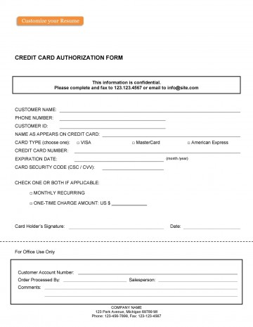 003 Unusual Credit Card Usage Request Form Template Example 360