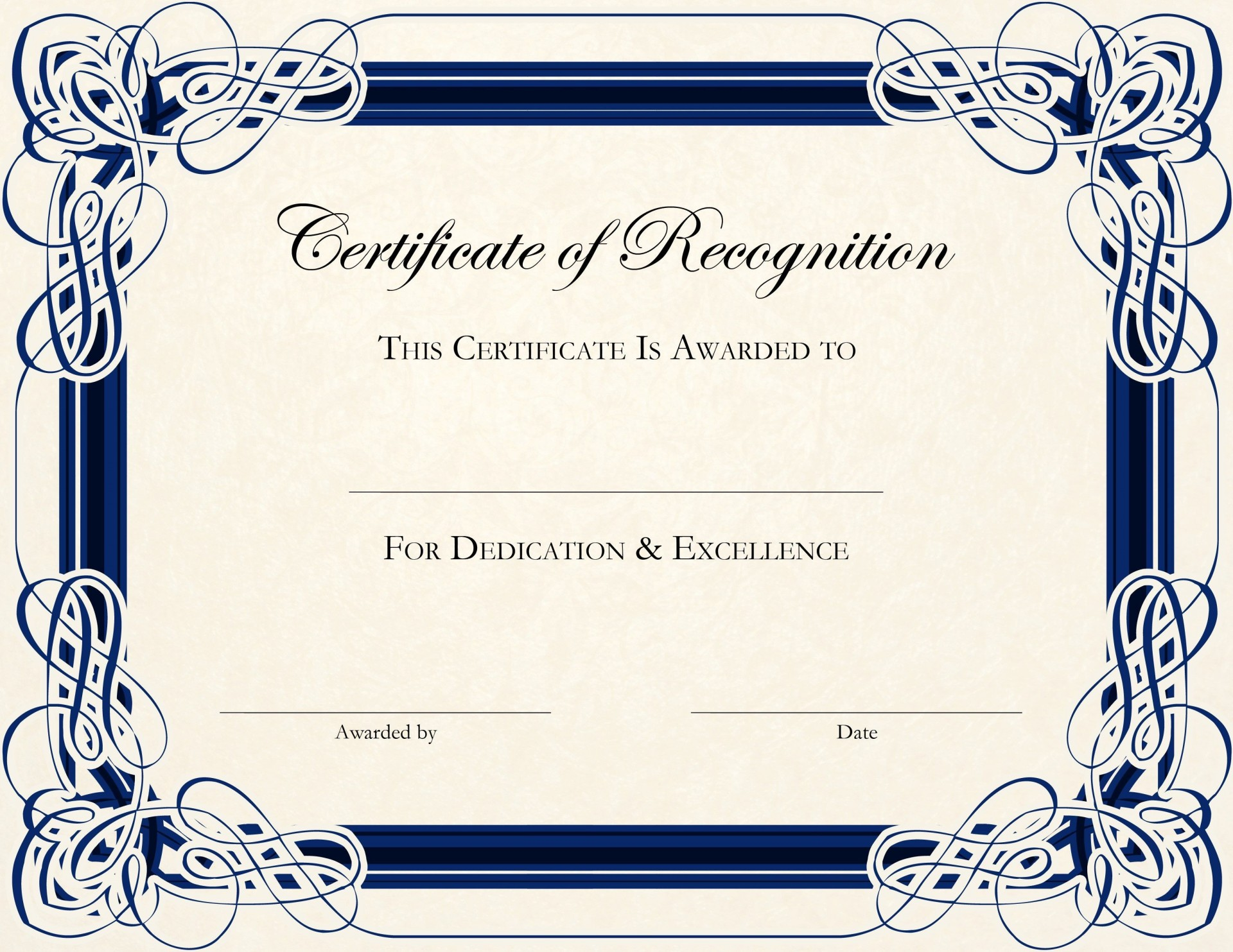 003 Unusual Free Printable Blank Certificate Template Inspiration  Templates Gift Of Achievement1920