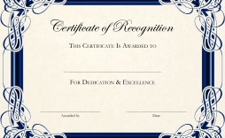 003 Unusual Free Printable Blank Certificate Template Inspiration  Templates Gift Of Achievement