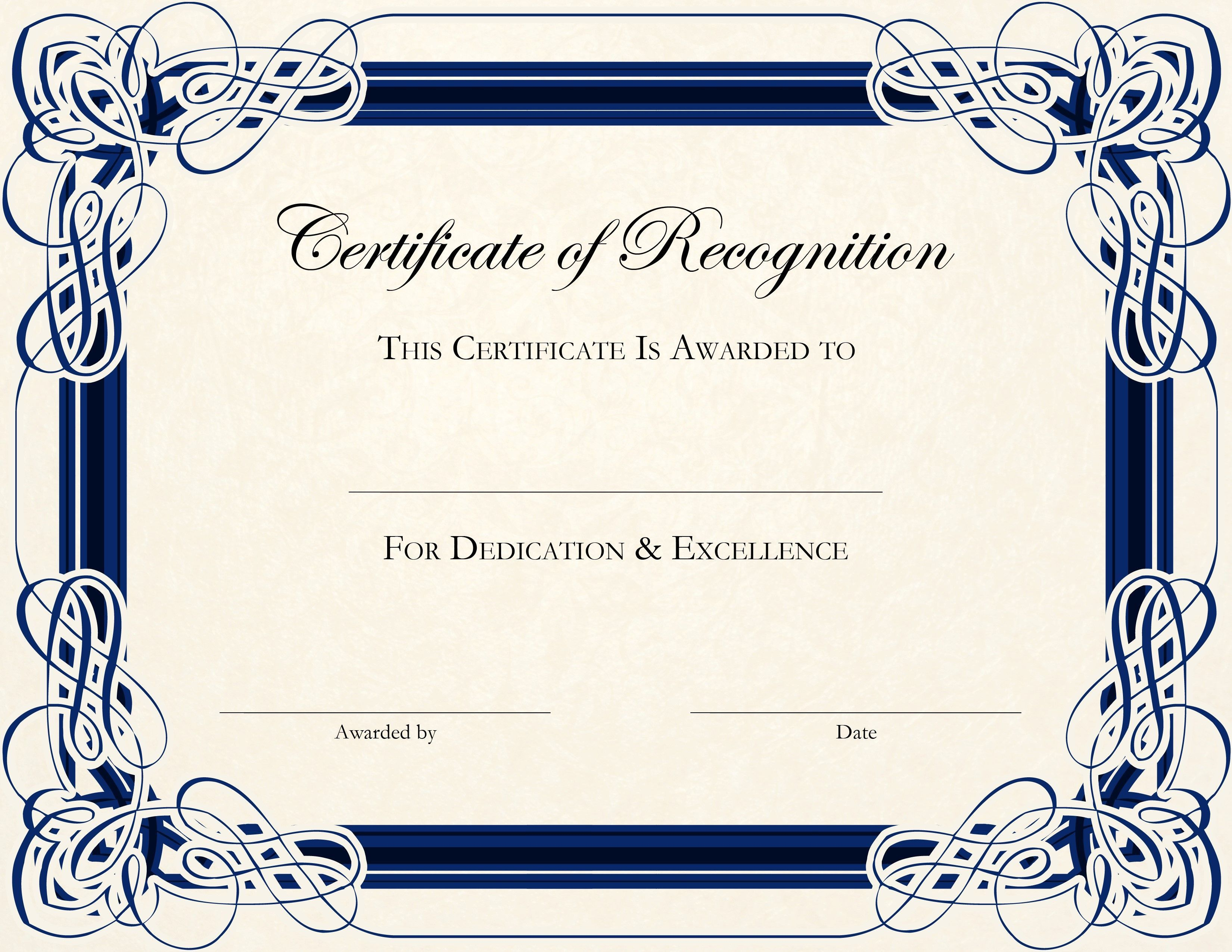 003 Unusual Free Printable Blank Certificate Template Inspiration  Templates Gift Of AchievementFull
